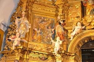 Vue partielle du Retable du maître-autel