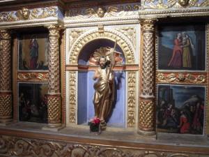 Vue du retable dit de Saint Jean Baptiste